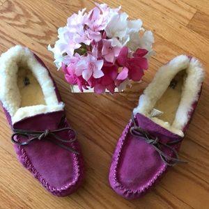 🌺 UGG Australia Purplish/Pink Comfy Slippers Sz 9